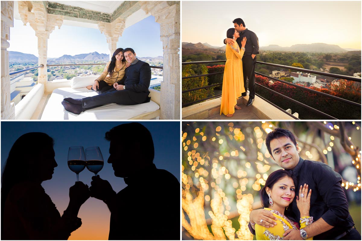 4 couple portrait collage devigarh candid indian wedding photography